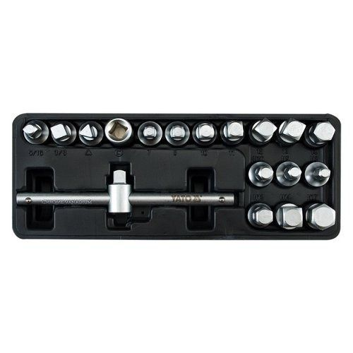 Sada klíčů nástrčných na zátky olejových van motorů, 18 ks, YATO
