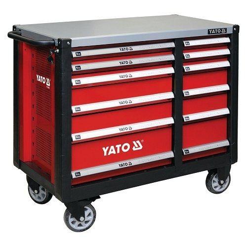 Skříňka dílenská pojízdná, 6+6 zásuvek, červená, YATO-09003