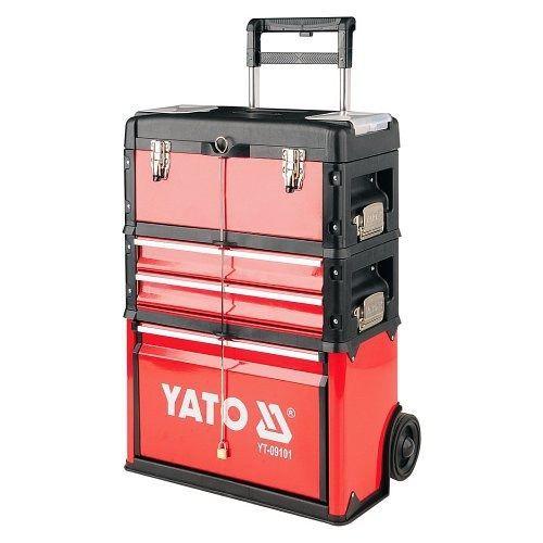 Fotografie Vozík na nářadí 3 sekce, 2 zásuvky, YATO-09101