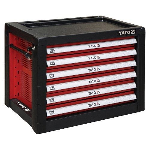 Fotografie Skříňka dílenská přenosná, 6 zásuvky, 690x465x535mm, červená, YATO-09155