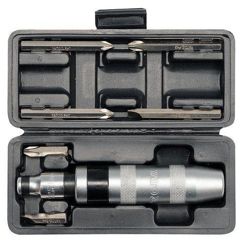Šroubovák úderový kovový s příslušenstvím, 7 ks, box, YATO