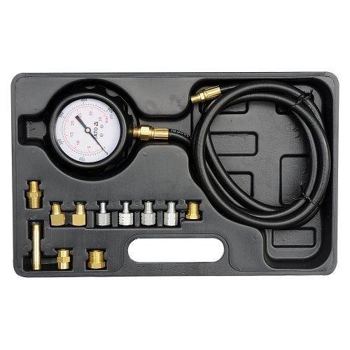 Souprava k měření kompresního tlaku oleje, 12ks, 0-35bar, YATO-73030