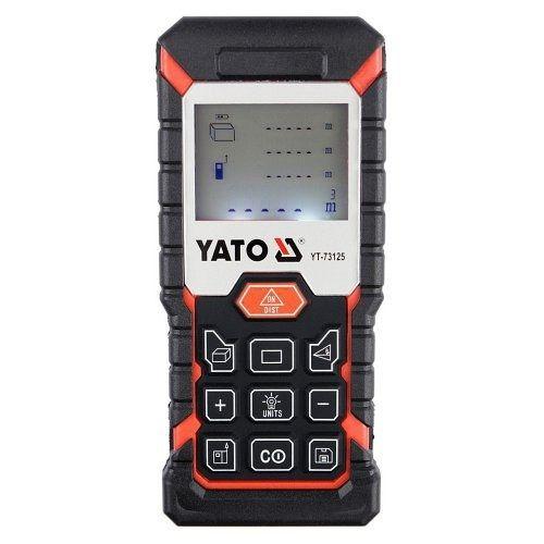 Laserový měřič vzdálenosti, úhlu, obvodu, objemu, max. 40m YATO