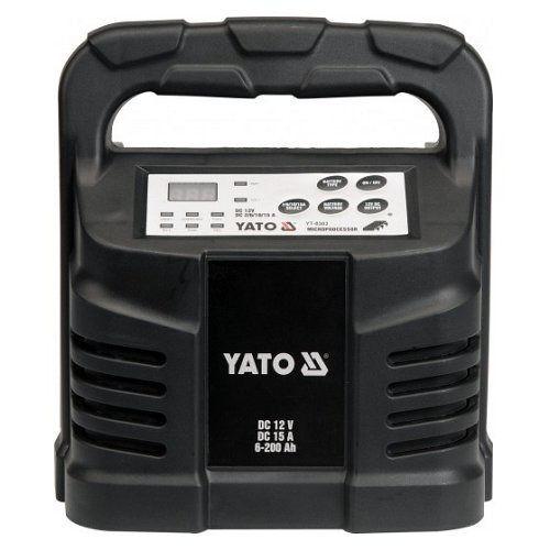 Elektronická nabíječka, 15A, 12V, gel/procesor YATO