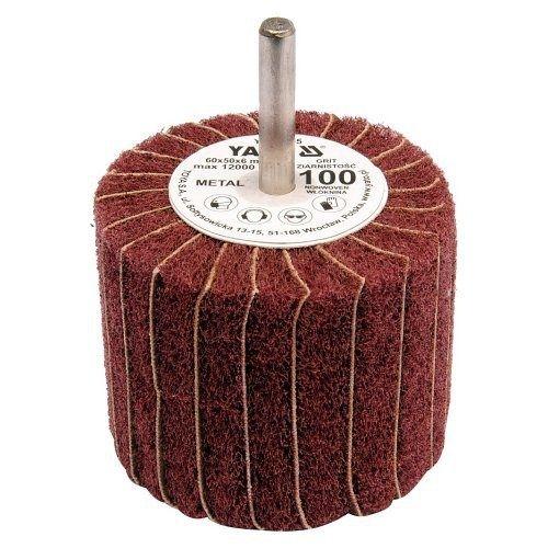 Kotouč lamelový radiální, 60x50, P100, s hřídelí 6 mm, YATO