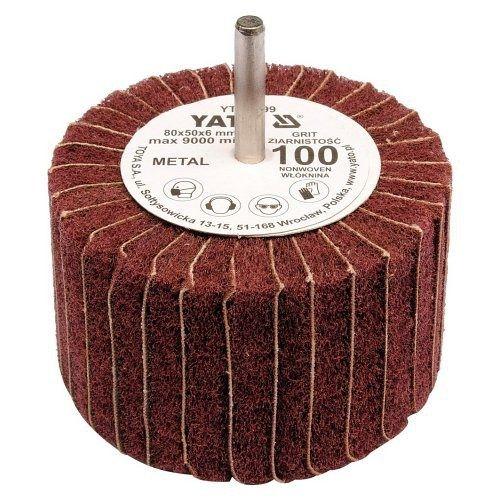 Kotouč lamelový radiální, 80x50, P100, s hřídelí 6 mm, YATO