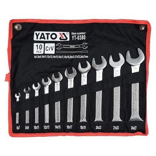 Sada klíčů plochých 10 ks 6 - 27 mm YATO