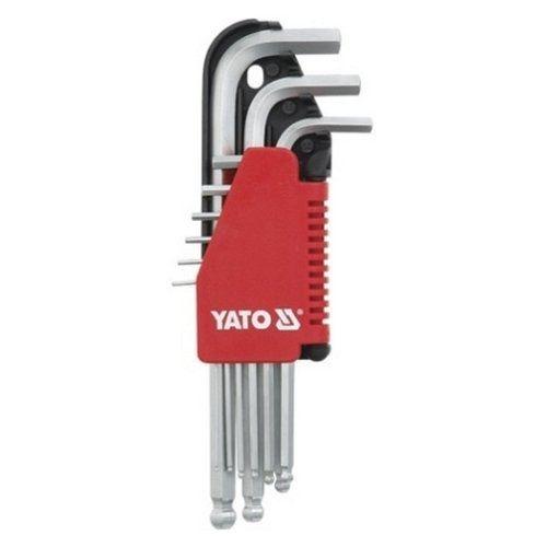 Sada klíčů imbus s kuličkou 9 ks delší YATO