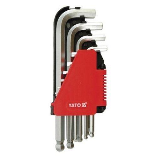 Sada klíčů imbus s kuličkou 10 ks delší YATO