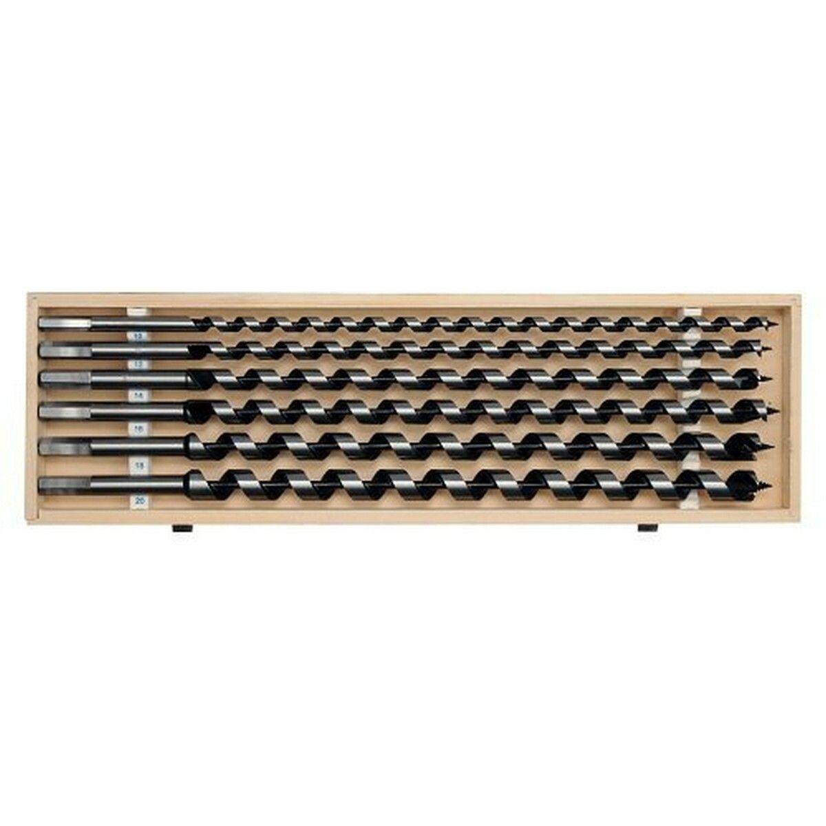 Sada hadovitých vrtáků do dřeva 10.12.14.16.18.20 délka 460mm YATO