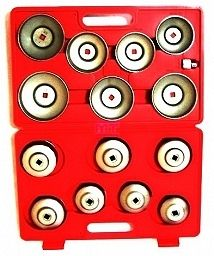 Sada klíčů na olejové filtry, 14 ks, kufr, BASS