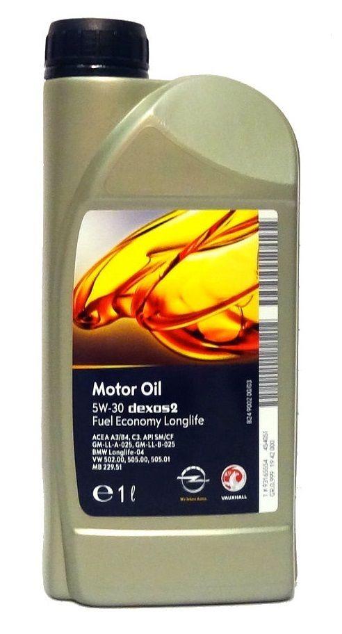 Motorový olej Opel GM Dexos 2 5W-30 1 l OPEL-GM