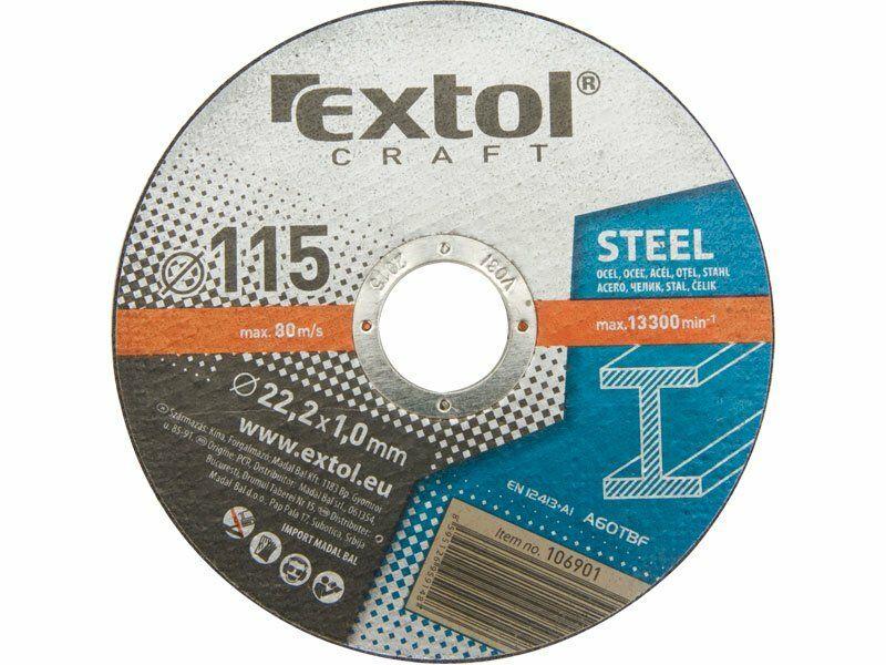 Kotouče řezné na kov, 5ks, 230x1,9x22,2mm EXTOL CRAFT