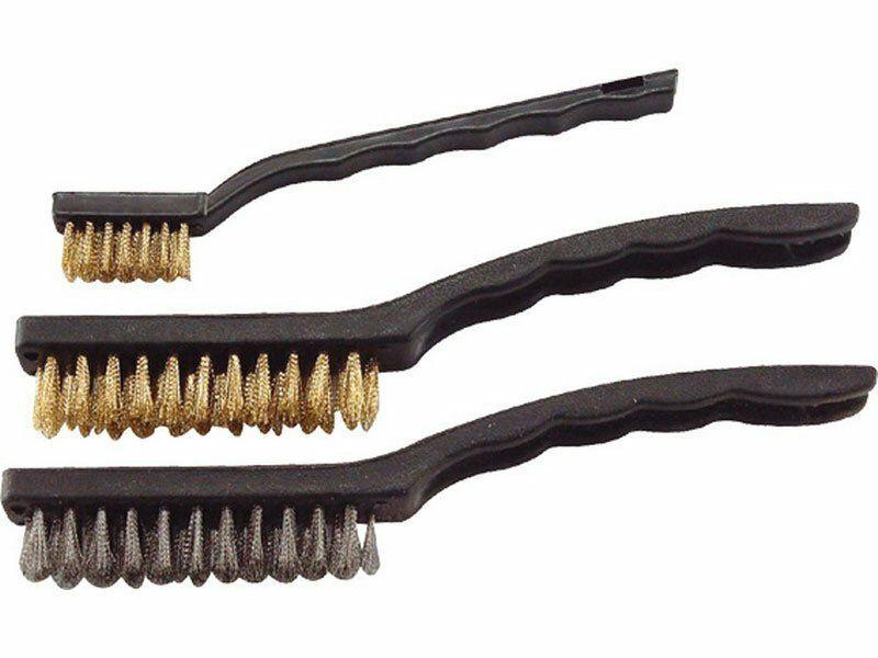 Kartáče ocelové, sada 3ks, 180mm, 2x225mm, vlnitý drát S 0,3mm a S 0,5mm, EXTOL CRAFT