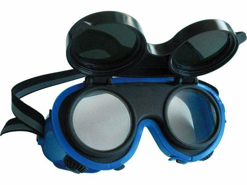 Brýle svářečské, odklápěcí kruhové zorníky třídy F, ochrana proti záření EXTOL-CRAFT