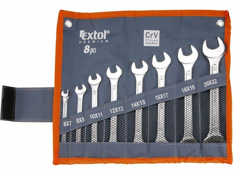 Klíče ploché, sada 8ks, 6x7, 8x9, 10x11, 12x13, 14x15, 16x17, ..., EXTOL PREMIUM