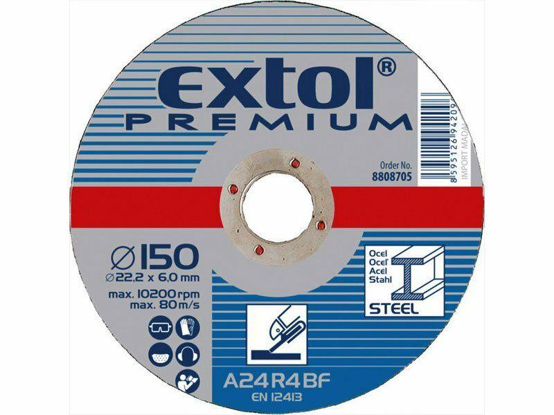 Kotouč brusný na ocel, 115x6,0x22,2mm EXTOL-PREMIUM