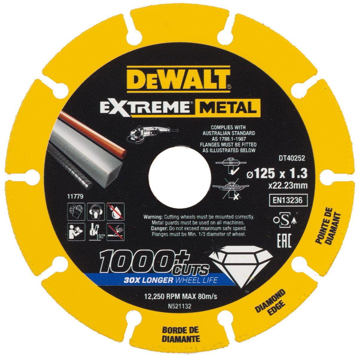 Řezný diamantový kotouč 125mm, EXTREME METAL DEWALT
