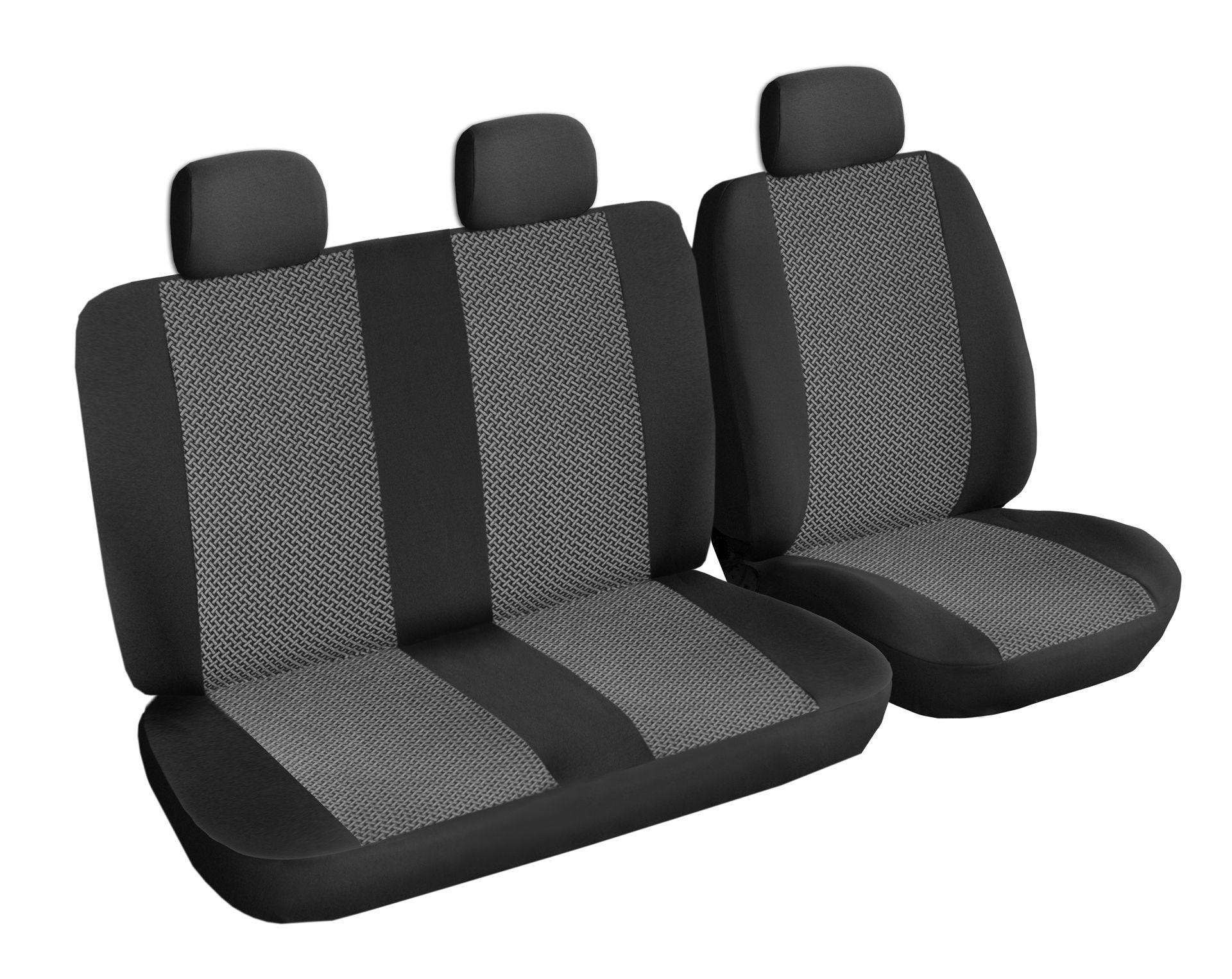 Autopotahy Volkswagen T5, 3 místa, od r. 2003, šedo černé