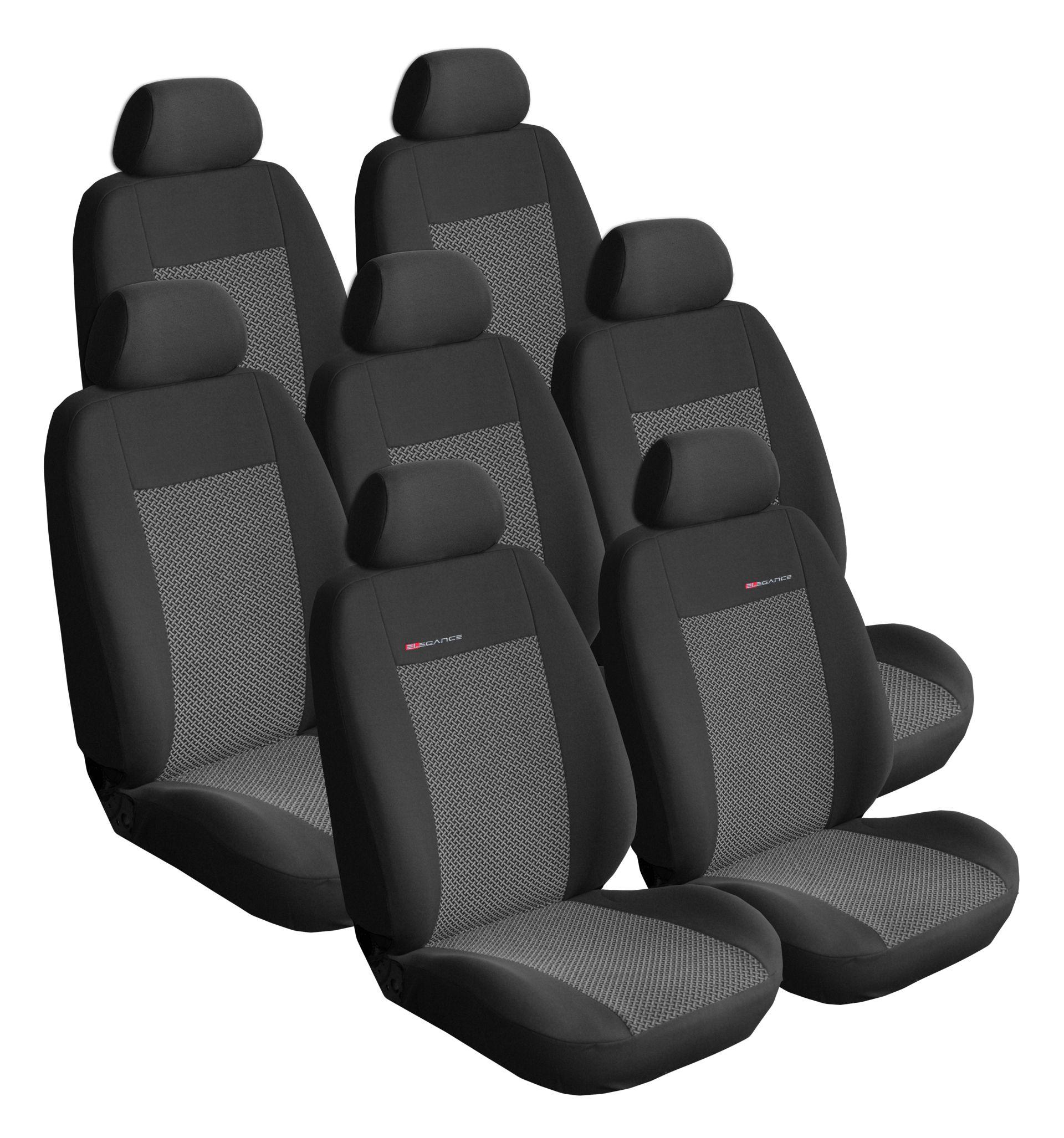 Autopotahy Citroen C8 od r. 2002, 7 míst, šedo černé SIXTOL