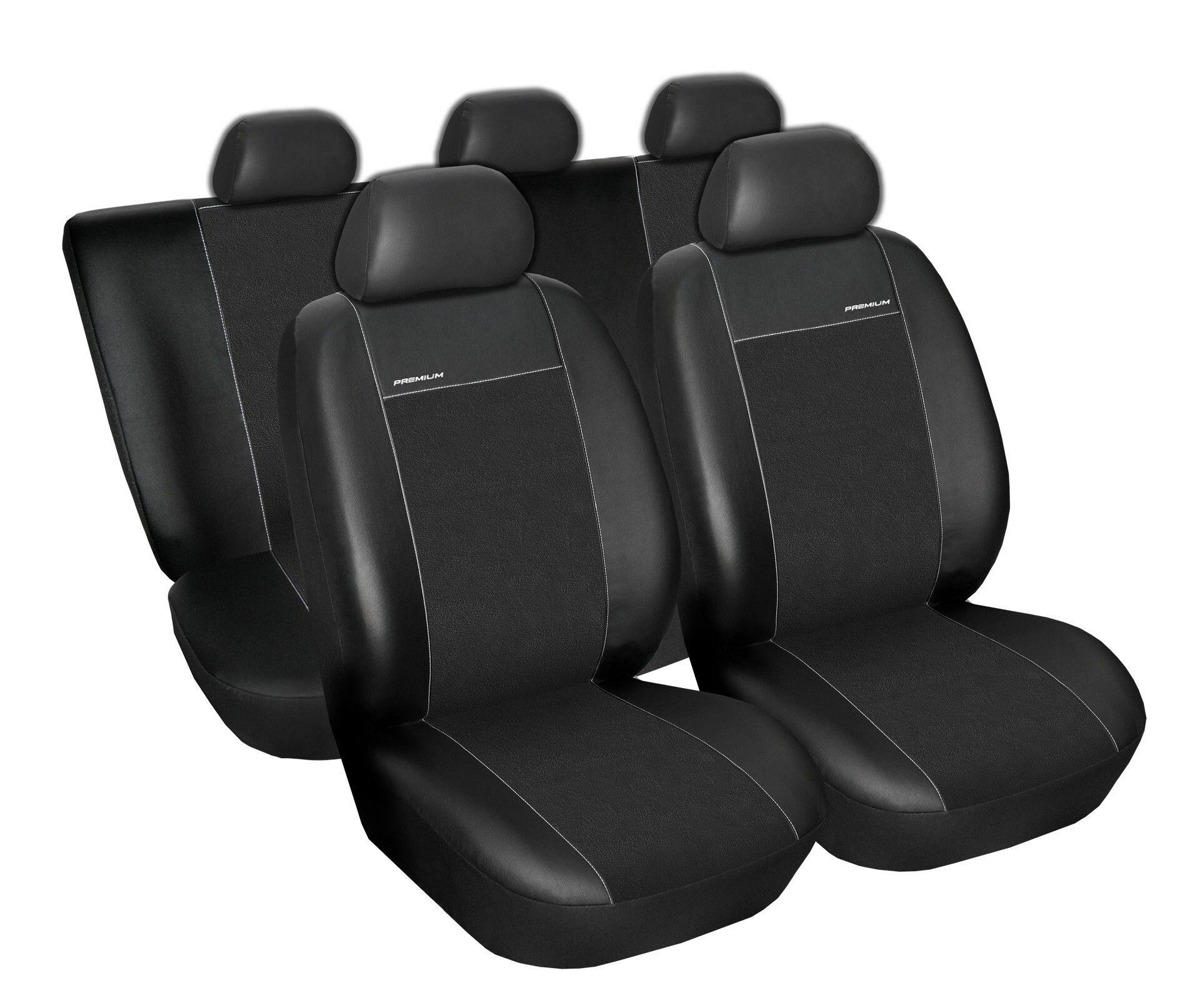 Autopotahy Audi A4 B6 sedan/kombi 00-04r., Eco kůže + alcantara černé SIXTOL