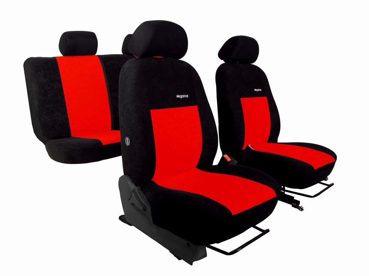 Autopotahy CITROEN JUMPER II, 3 místa, stolek, ELEGANCE ALCANTARA, červené
