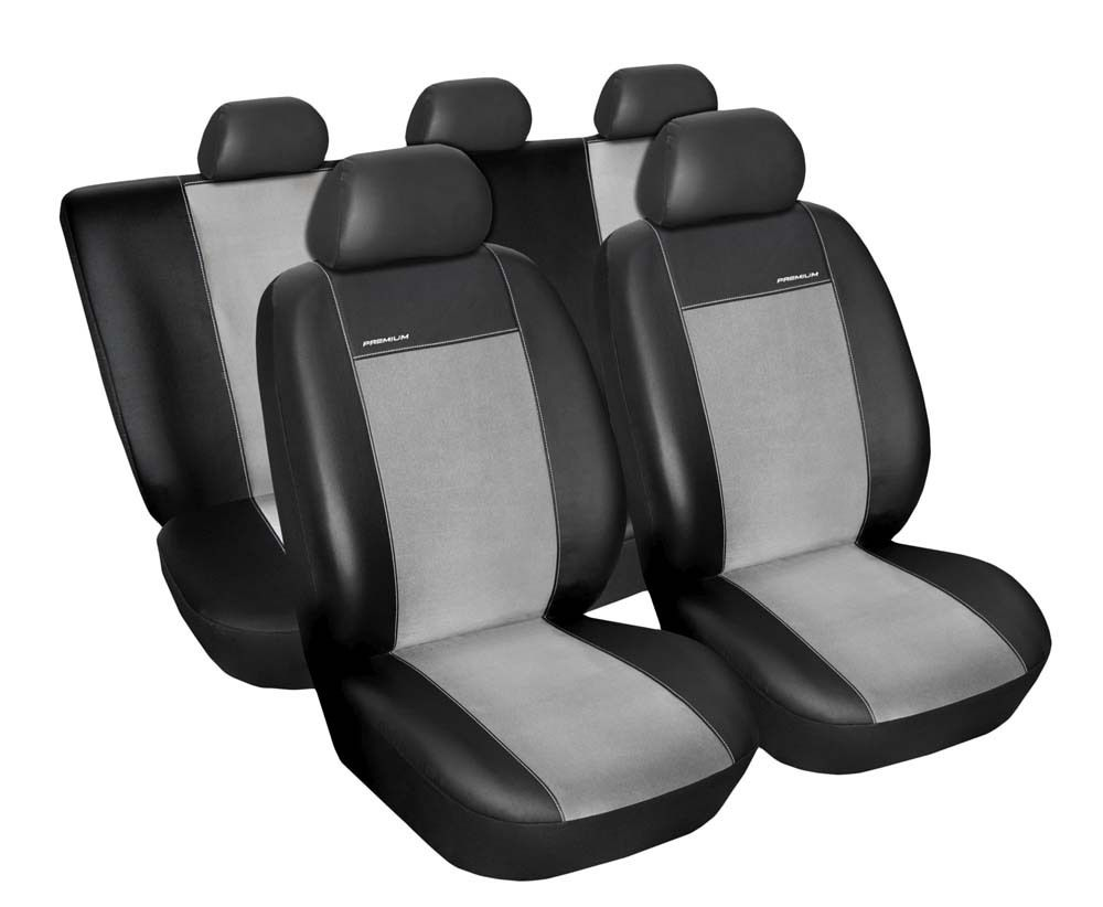 Autopotahy Volkswagen Tiguan, od r. 2007-2014, Eco kůže + alcantara šedé SIXTOL