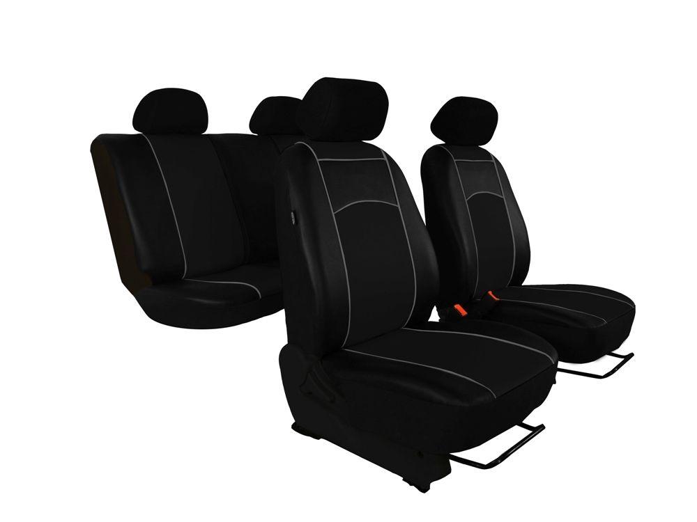 Autopotahy Škoda Octavia I TOUR kožené Tuning, dělené, 5 opěrek hlavy, černé SIXTOL