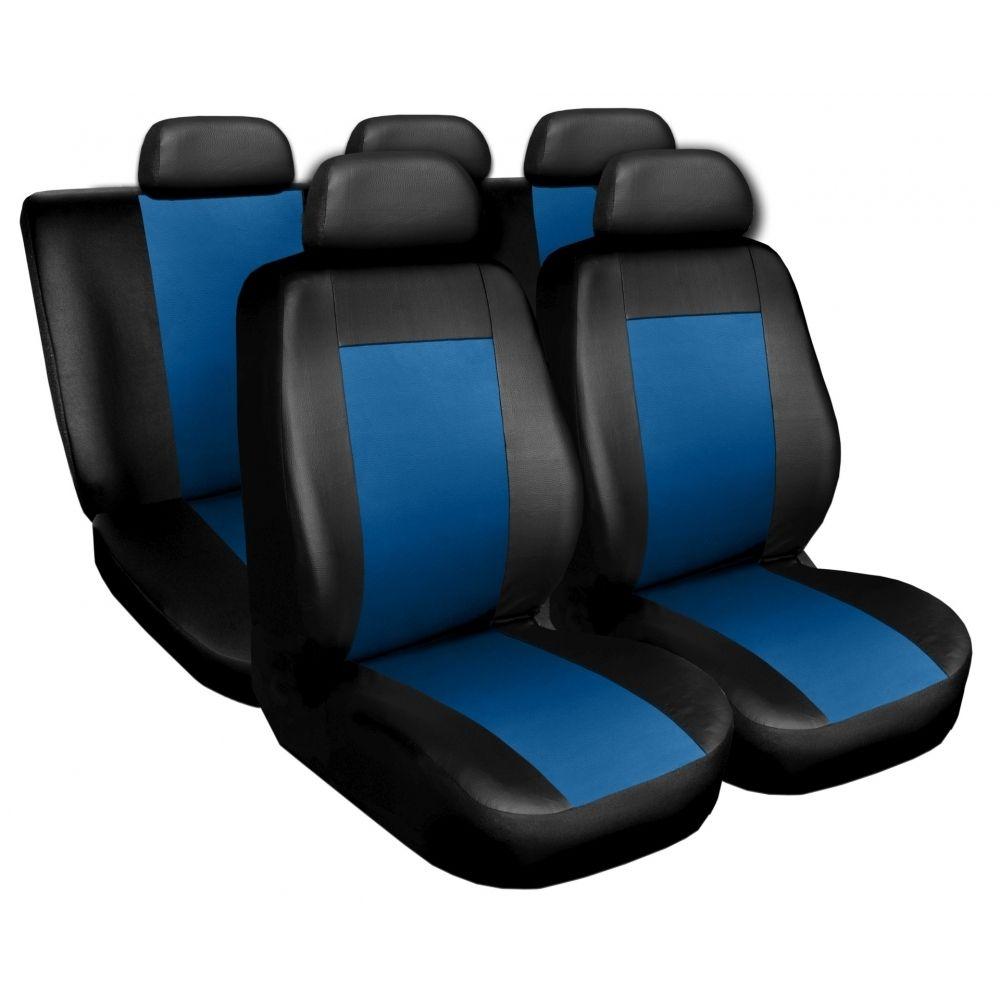 Autopotahy kožené COMFORT černomodré SIXTOL