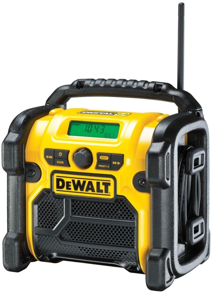 Aku rádio DeWalt napájené 220 V nebo XR baterií, bez akumulátorů DCR020
