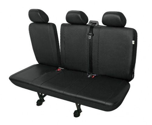 Autopotahy PRACTICAL DV dodávka - 3 sedadla rozdělená, černé