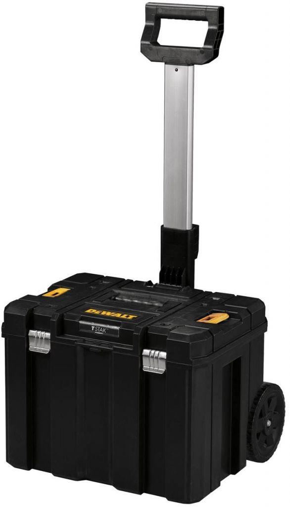 Tstak VIII, velký box na nářadí s kolečky a výsuvnou kovovou rukojetí DeWalt