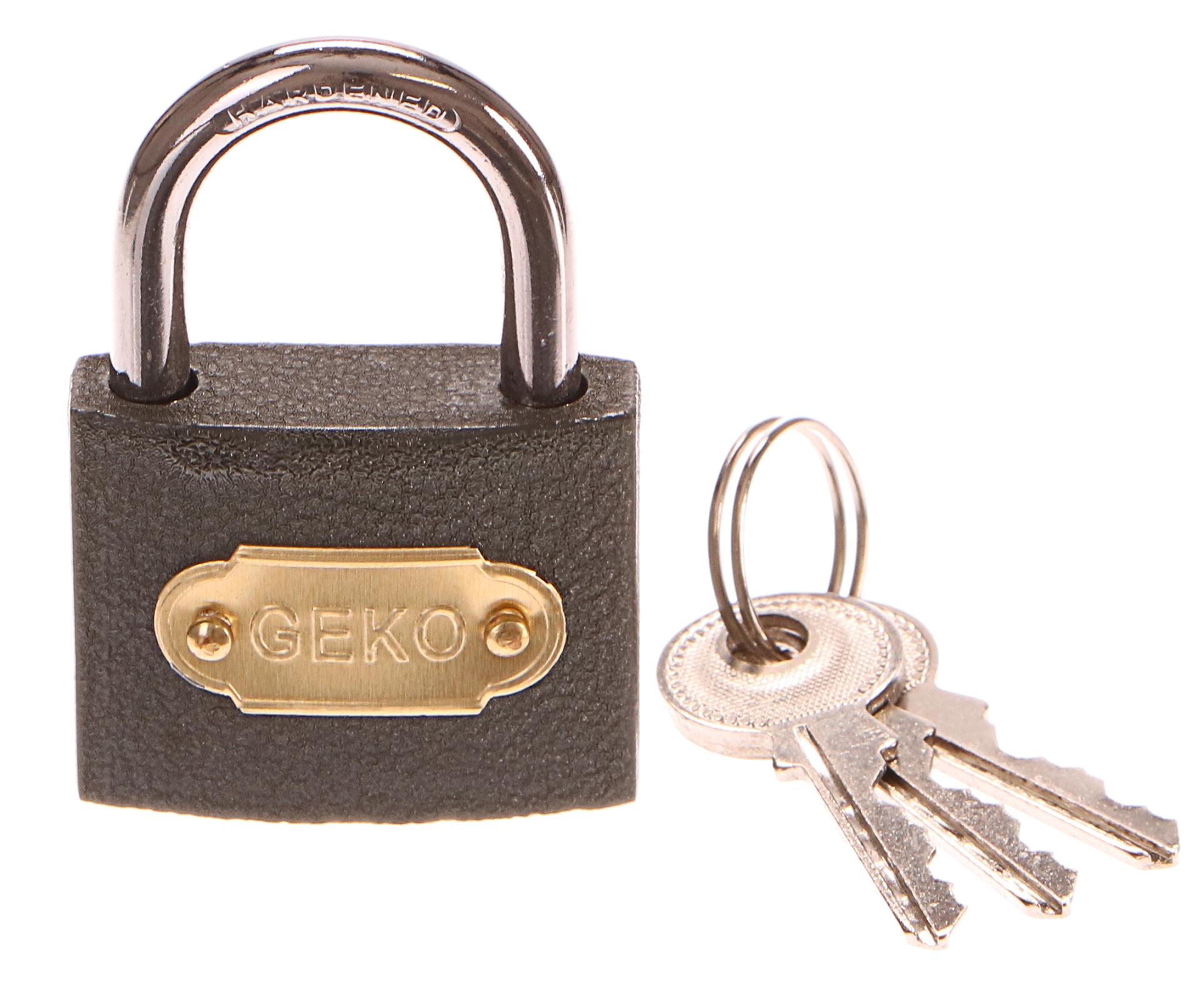 Zámek visací, 38mm, 3 klíče, GEKO