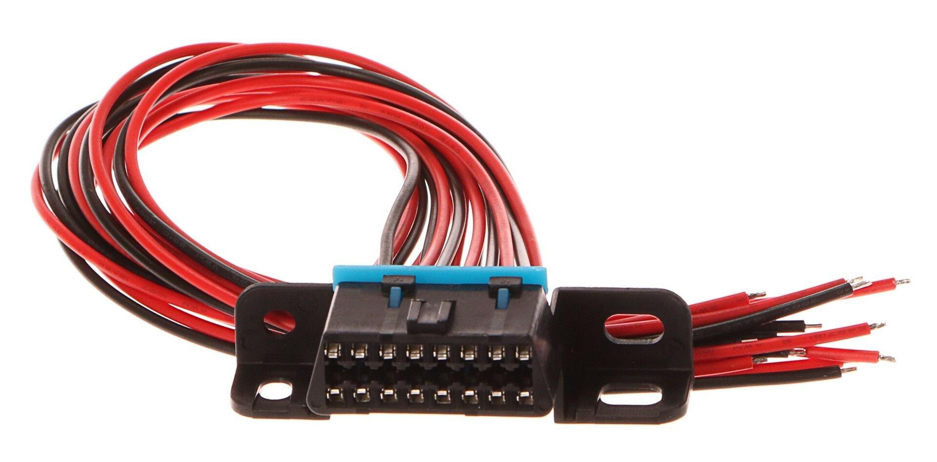 Zásuvka OBD2 s 16 piny ukončená 30 cm propojovacími kabely SIXTOL