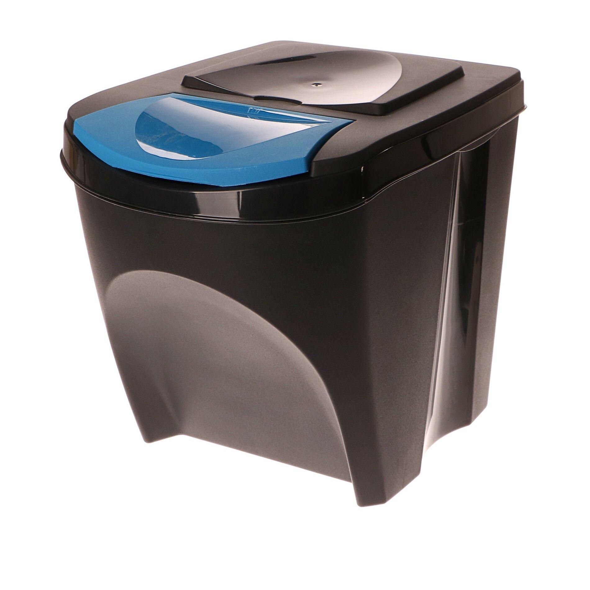 Odpadkový koš na papír SORTIBOX antracit 392X293X335 PROSPERPLAST