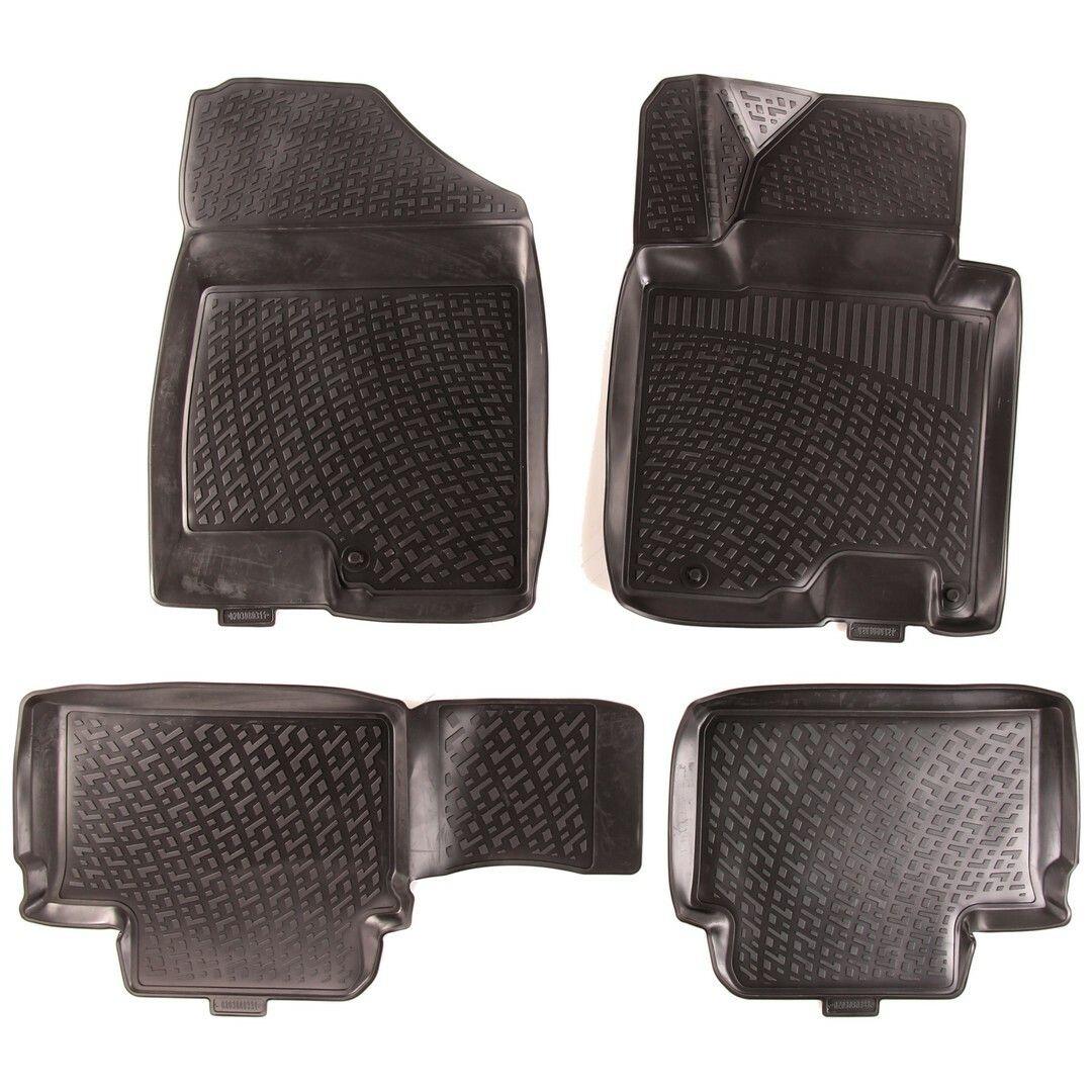 Gumové koberce Kia Ceed II Hatchback (EU) (12-) (3D) SIXTOL
