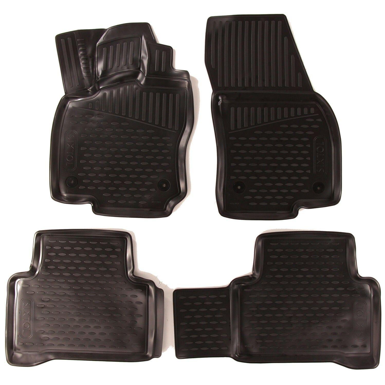 3D Gumové koberce VOLKSWAGEN Touran II, 2015->, 5 sedadel, minivan SIXTOL