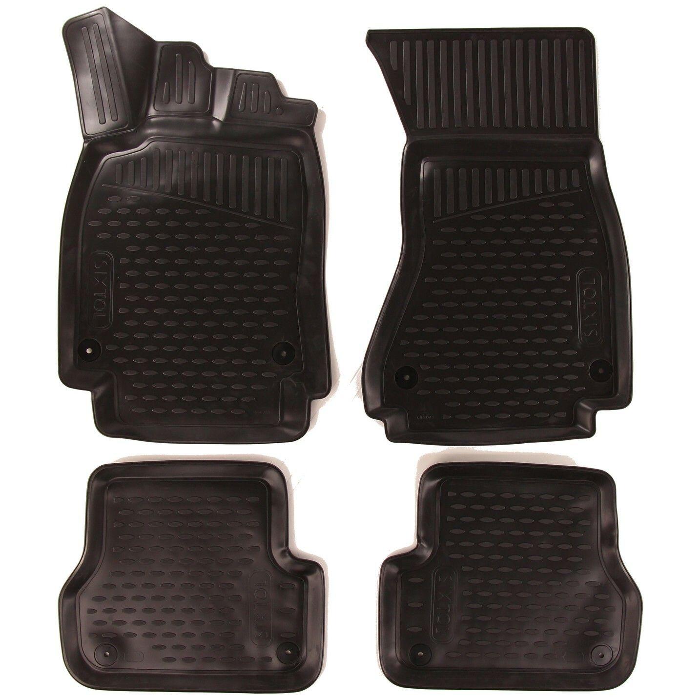 3D Gumové koberce AUDI A6, 2011->, sedan/bez přihrádky na rukavice SIXTOL