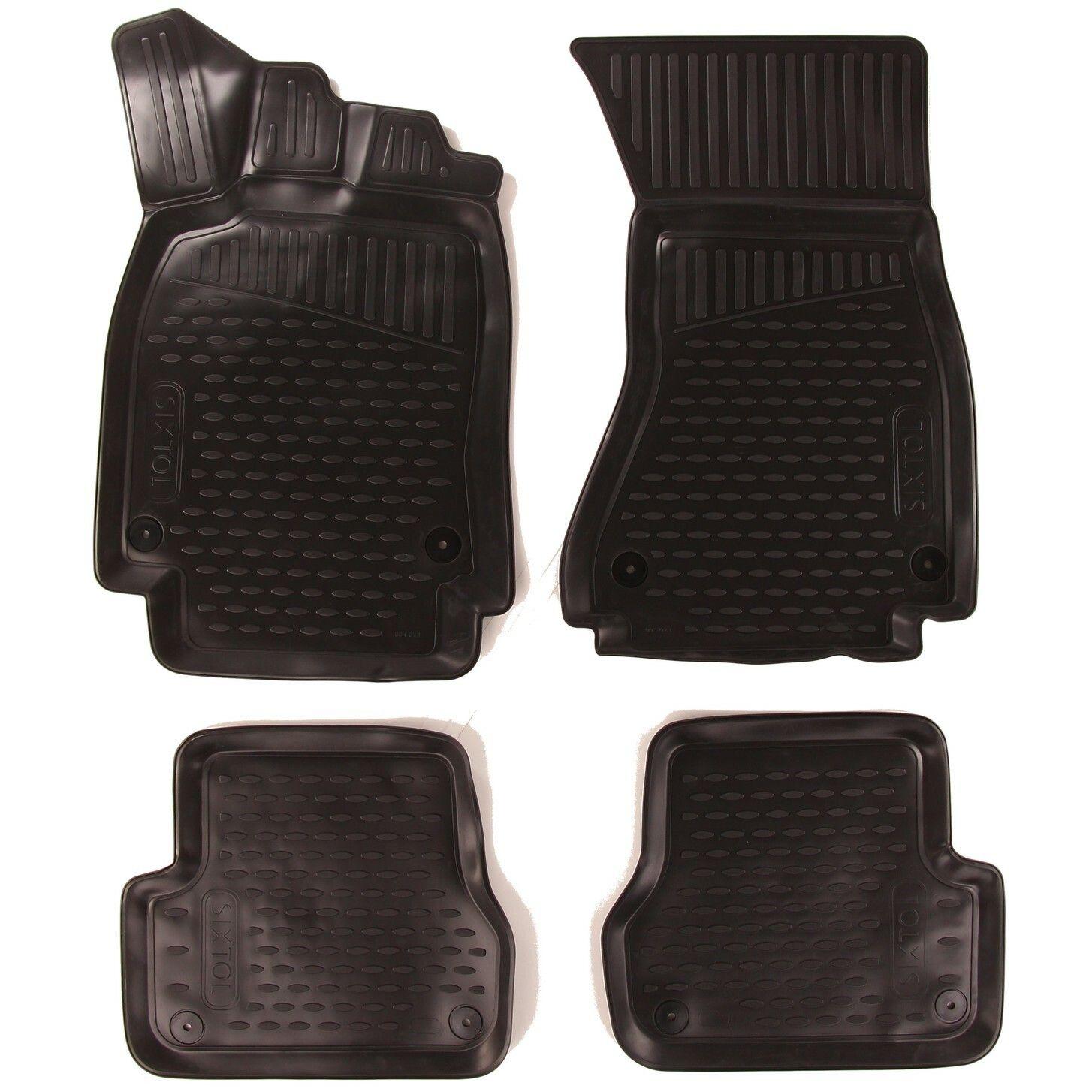 3D Gumové koberce AUDI A6 III (C7), 2011->, Avant/Allroad/bez přihrádky na rukavice SIXTOL