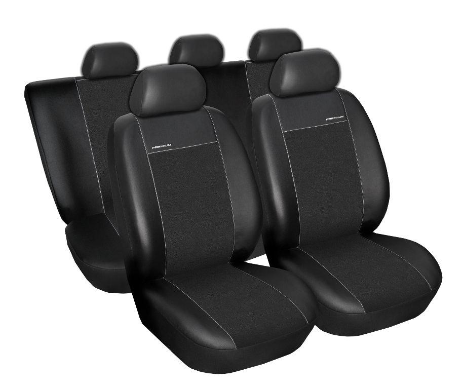 Autopotahy Seat Leon II, od r. 2005, Eco kůže + alcantara černé SIXTOL