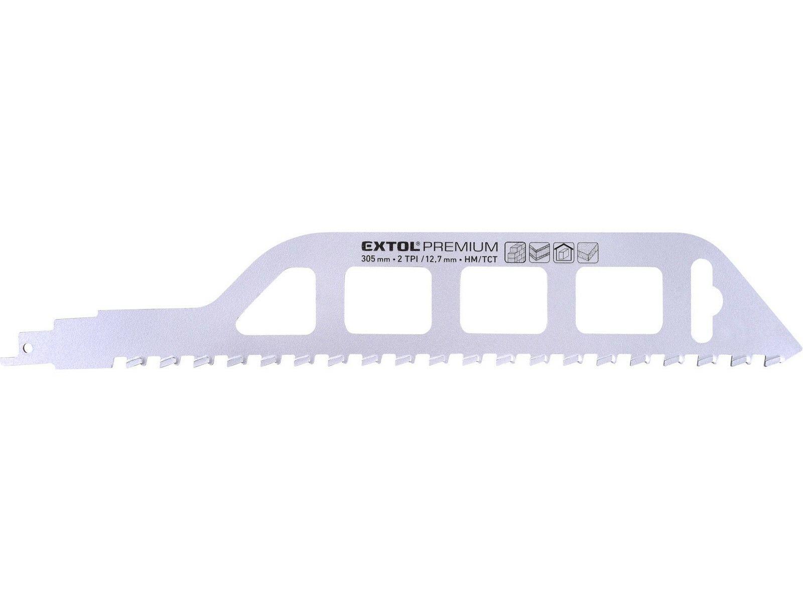 Plátek do pily ocasky s SK zuby, 305x50x1,5mm EXTOL-PREMIUM