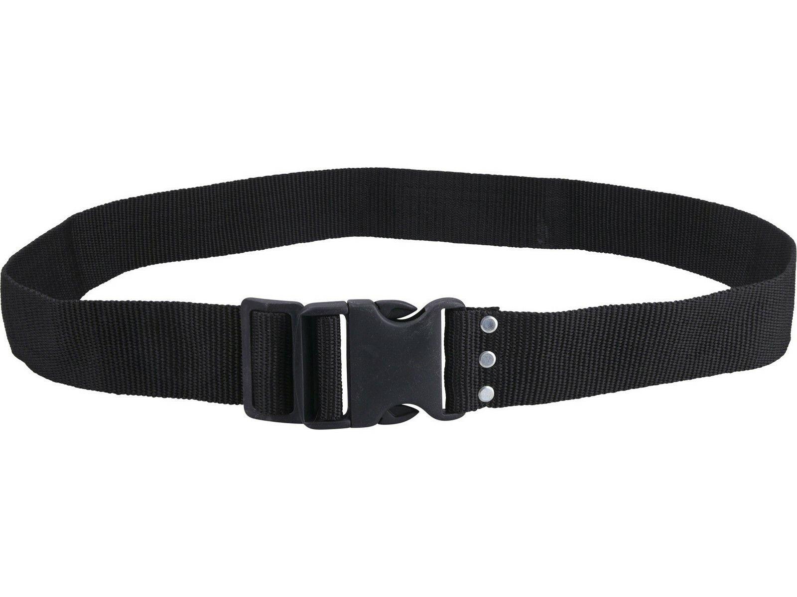 Opasek nylonový černý, š.5cm x d.122cm, plast. přezka, nylon EXTOL-PREMIUM