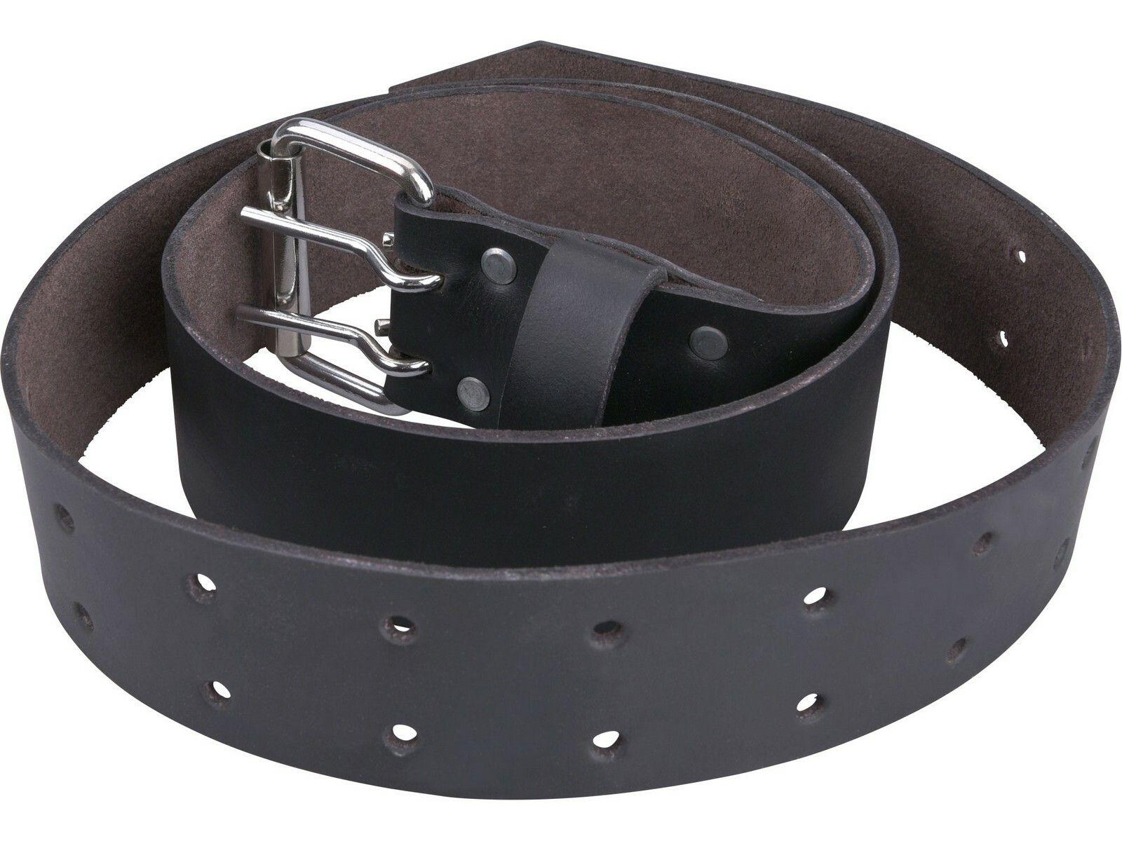Opasek kožený černý, š.4,5cm x d.122cm, kovová přezka, kůže EXTOL-PREMIUM
