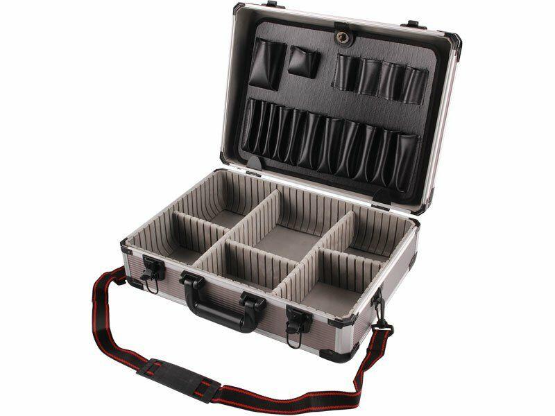 Kufr na nářadí hlíníkový, 450x330x150mm, šedá barva EXTOL-CRAFT