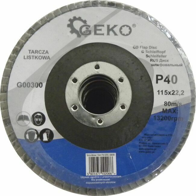 GEKO G00300 Lamelový kotouč 115mm, P40