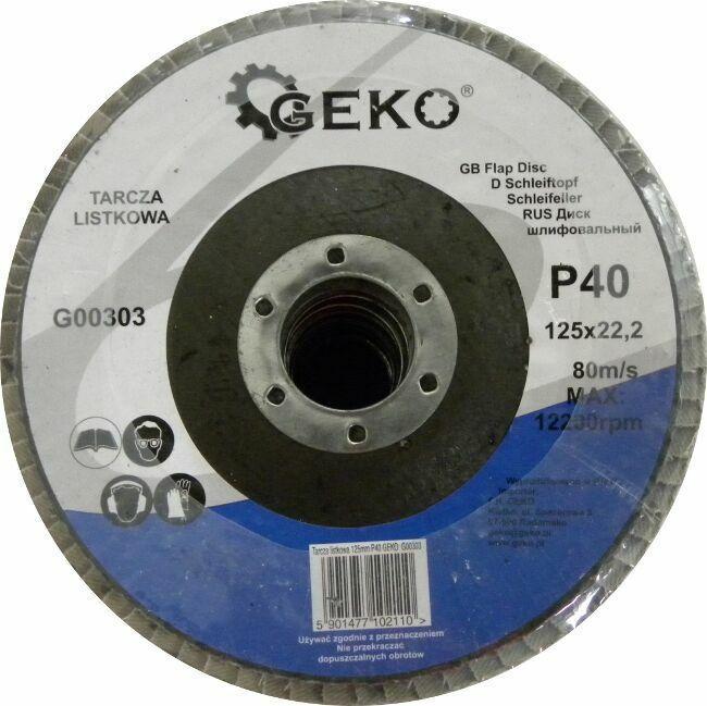 GEKO G00303 Lamelový kotouč 125mm, P40