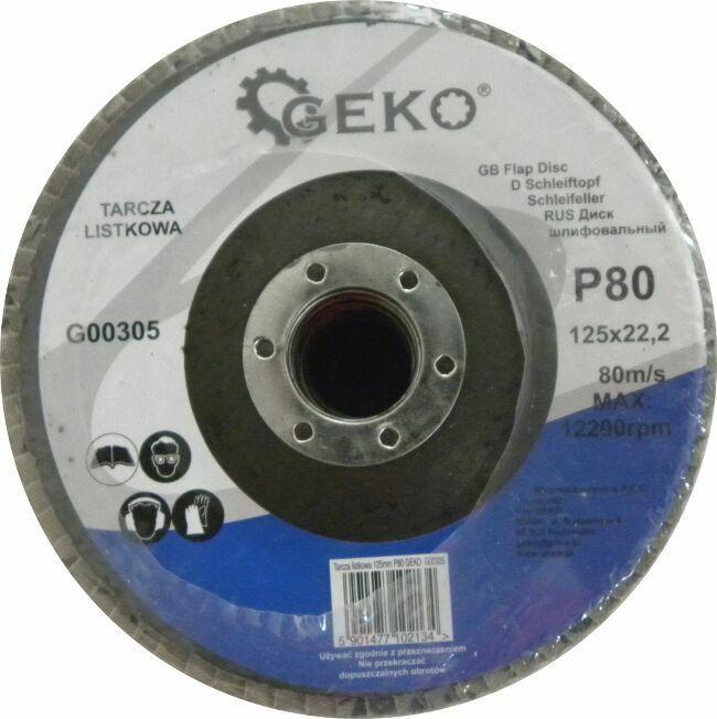 GEKO G00305 Lamelový kotouč 125mm, P80