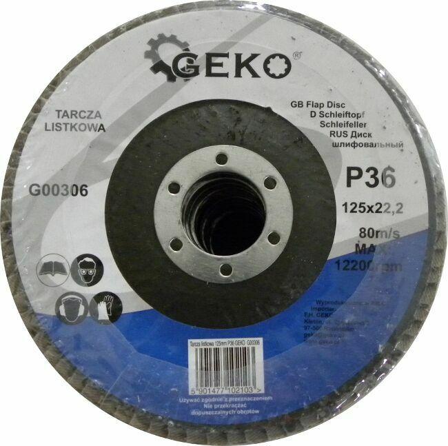 GEKO G00306 Lamelový kotouč 125mm, P36