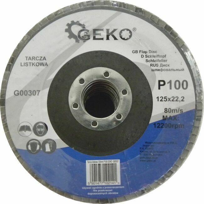 GEKO G00307 Lamelový kotouč 125mm, P100