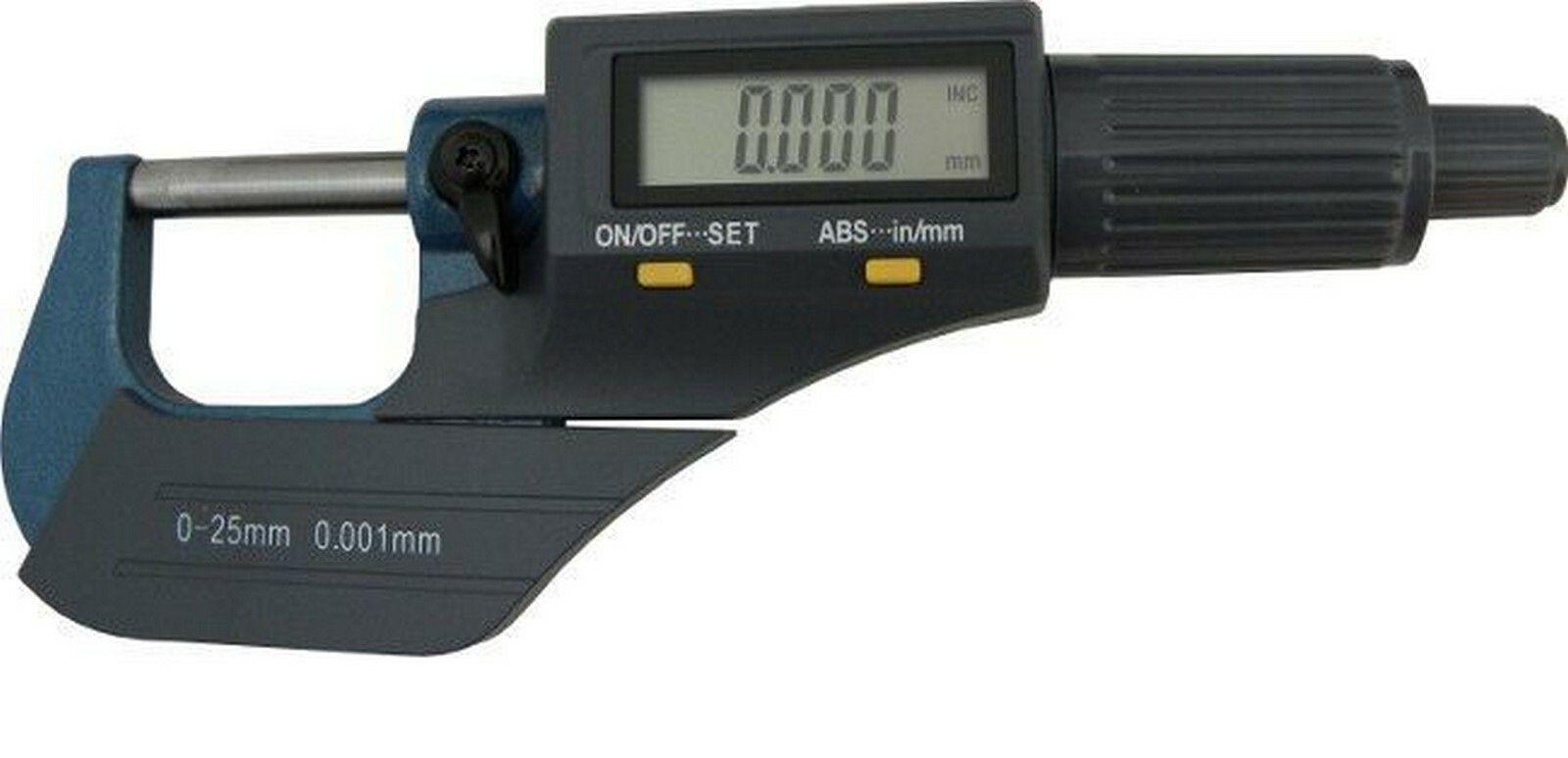 Mikrometr digitální, 0-25mm, GEKO